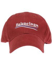 2591387a Balenciaga - Logo-embroidered Baseball Cap - Lyst