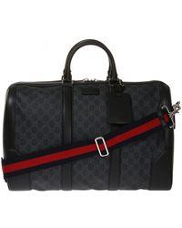 da585b3a1 Gucci Men's Neo Vintage Gg Supreme Print Webbing Duffle Bag In Brown ...