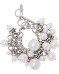 Lanvin - Bracelet With Glass Pearls - Lyst