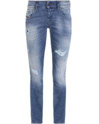 DIESEL - 'grupee' Super Skinny Jeans - Lyst