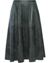 DIESEL - Flared Leopard Skirt - Lyst