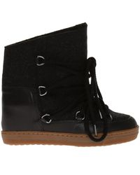 Isabel Marant   'nowles' Built-in Wedge Boots   Lyst