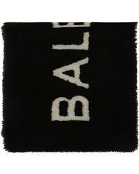 Balenciaga - Logo-embroidered Fur Scarf - Lyst