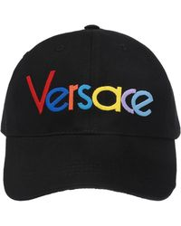 80499808753 Versace - Black Rainbow Logo Embroidered Baseball Cap - Lyst