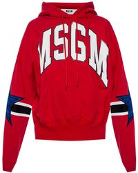 MSGM - Hooded Sweatshirt - Lyst
