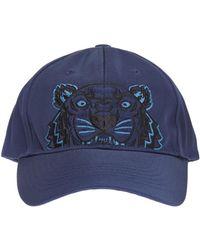 KENZO - Icons Tiger Print Cotton Cap - Lyst