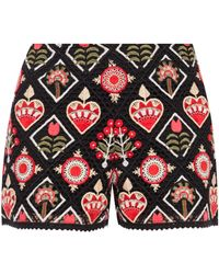 RED Valentino Openwork Shorts