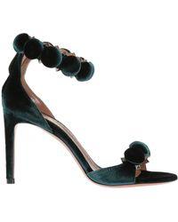 Alaïa - Velvet High Heel Sandals - Lyst
