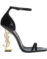 Saint Laurent - 'opyum' Heeled Sandals - Lyst