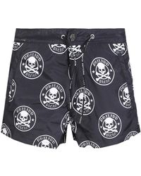 Philipp Plein - Printed Swim Shorts - Lyst