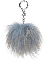 Michael Kors - Fox Fur Key Ring - Lyst