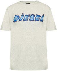 DIESEL - Logo-printed T-shirt - Lyst