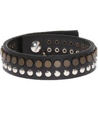 DIESEL - Studded Bracelet - Lyst