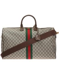 cd6c54ce3d1 Lyst - Gucci Green Canvas Flora Snake Duffle Bag in Green for Men