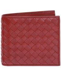 Bottega Veneta - 'intrecciato' Bi-fold Wallet - Lyst