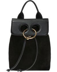 JW Anderson - Black Mini Pierce Backpack - Lyst
