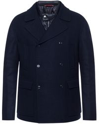 Moncler - Cropped Coat With Down Lining - Lyst