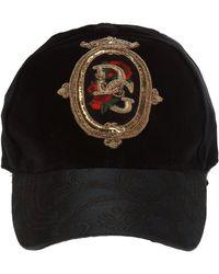 info for 607e6 4f085 Dolce   Gabbana - Embellished Logo Baseball Cap - Lyst