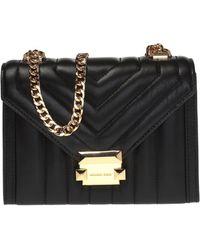 Michael Kors 'whitney' Quilted Shoulder Bag - Black