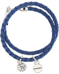 DIESEL - Double Braided Bracelet - Lyst