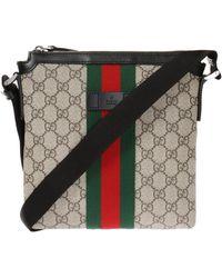 Gucci - 'web' Shoulder Bag - Lyst