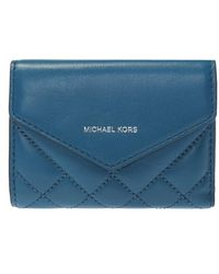 Michael Kors - Small Quilted Leather Envelope Wallet - Lyst