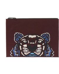 KENZO | Clutch With Tiger's Head | Lyst