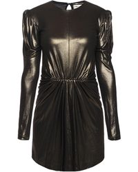 Saint Laurent - Dress With Gathered Waist - Lyst