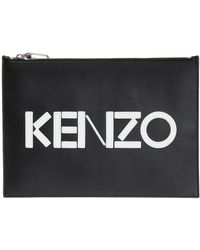 KENZO - Logo Clutch - Lyst