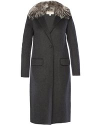 Michael Kors - Fur Collar Coat - Lyst