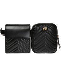 daf6b458d2bf Lyst - Prada Two-tone Leather Shoulder Bag in Black for Men