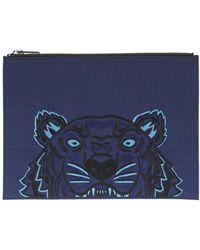 KENZO - Tiger Canvas Clutch - Lyst