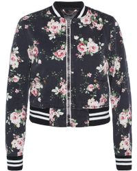 DIESEL - Patterned Bomber Jacket - Lyst