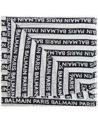 Balmain - Logo Scarf - Lyst