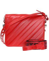 21ee09cc58b02 Lyst - Off-White c o Virgil Abloh Industrial Velvet Shoulder Bag in Red