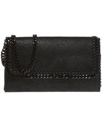 455aad159890 Lyst - Stella McCartney Falabella Tassel Fringe Shoulder Bag in Black