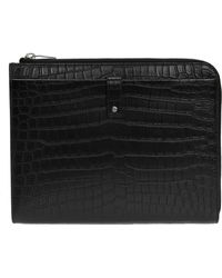 b873e831fbd Kenneth Cole Buckle-front Flapover Tablet Case in Black for Men - Lyst
