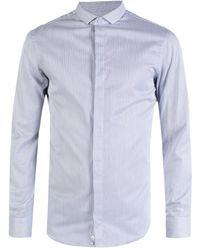 Emporio Armani - Pinstriped Cotton Shirt - Lyst