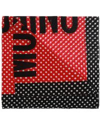 Moschino - Patterned Shawl With Logo - Lyst