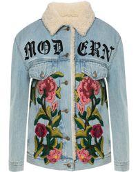 Gucci - Embroidered Denim Jacket - Lyst