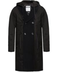 Moschino - Double-breasted Coat With Open Flaps - Lyst