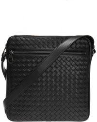 Bottega Veneta - Nero Intrecciato Messenger Bag - Lyst