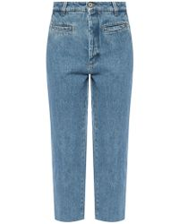Loewe Logo-patched Jeans - Blue