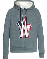 Moncler Grenoble - Sweatshirt With Down Collar - Lyst