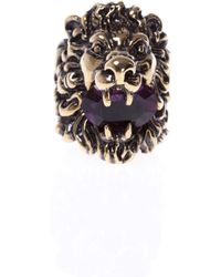 Gucci - Lion's Head-shaped Ring - Lyst
