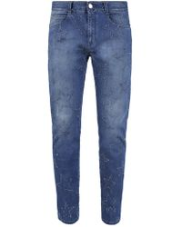 74c8c6bfcbc Stella McCartney The Skinny Boyfriend Jeans With Stars in Blue - Lyst