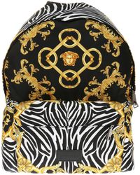 Versace - Patterned Backpack - Lyst
