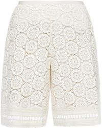 See By Chloé - Openwork Shorts - Lyst