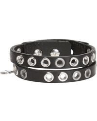 DIESEL - Bracelet With Metal Rivets - Lyst
