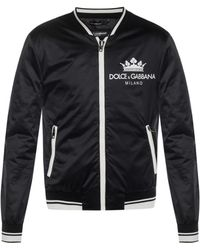 Dolce & Gabbana - Contrast Logo Bomber Jacket - Lyst